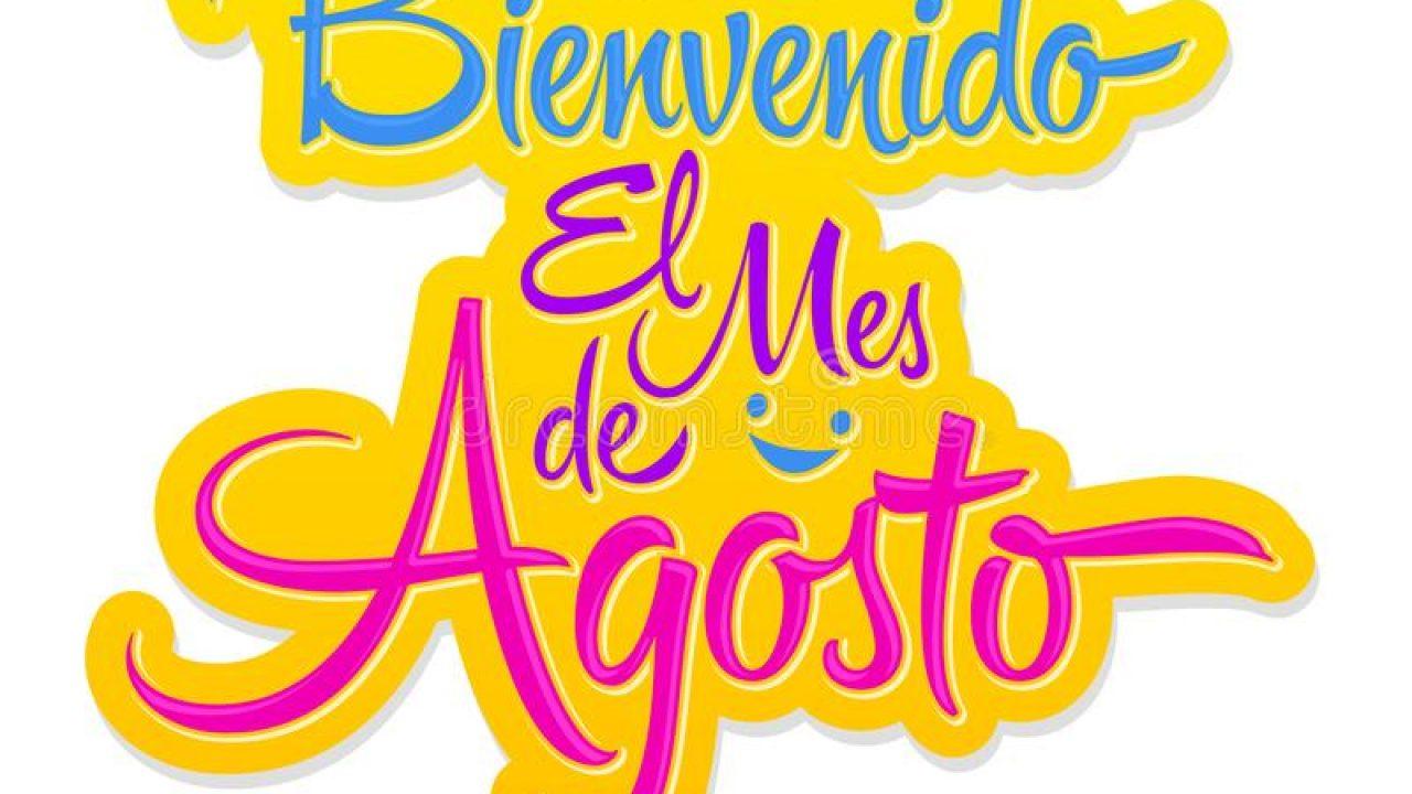 el-mes-de-agosto-texte-espagnol-d-août-accueil-message-bienvenido-lettrage-vecteur-bienvenu-marquant-avec-des-lettres-le-env-154289080